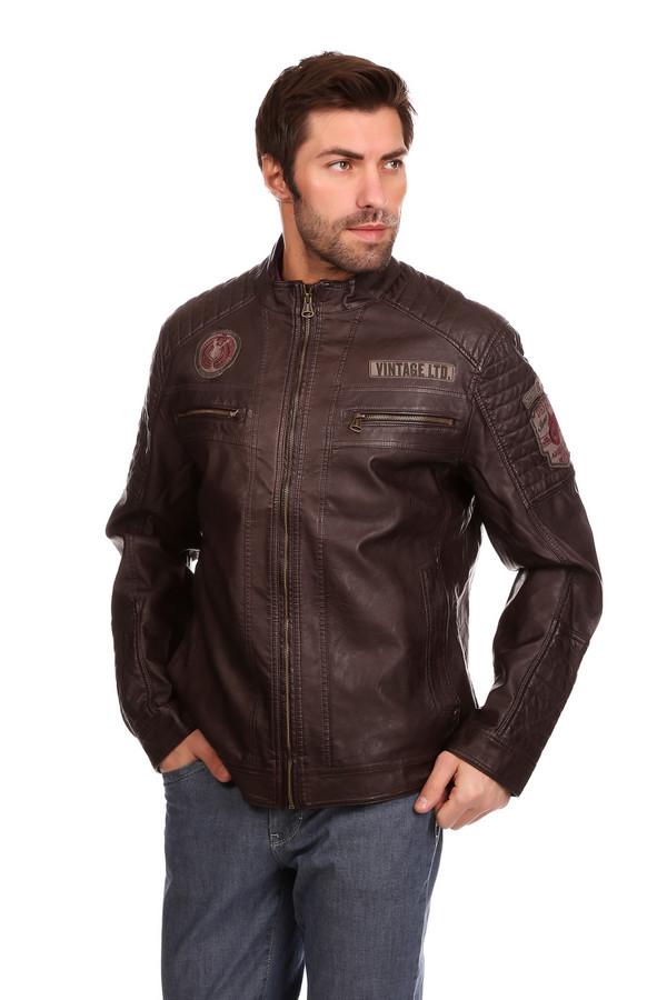 Куртка Tom TailorКуртки<br><br><br>Размер RU: 46-48<br>Пол: Мужской<br>Возраст: Взрослый<br>Материал: полиэстер 15%, вискоза 85%, Состав_подкладка полиэстер 100%<br>Цвет: Коричневый
