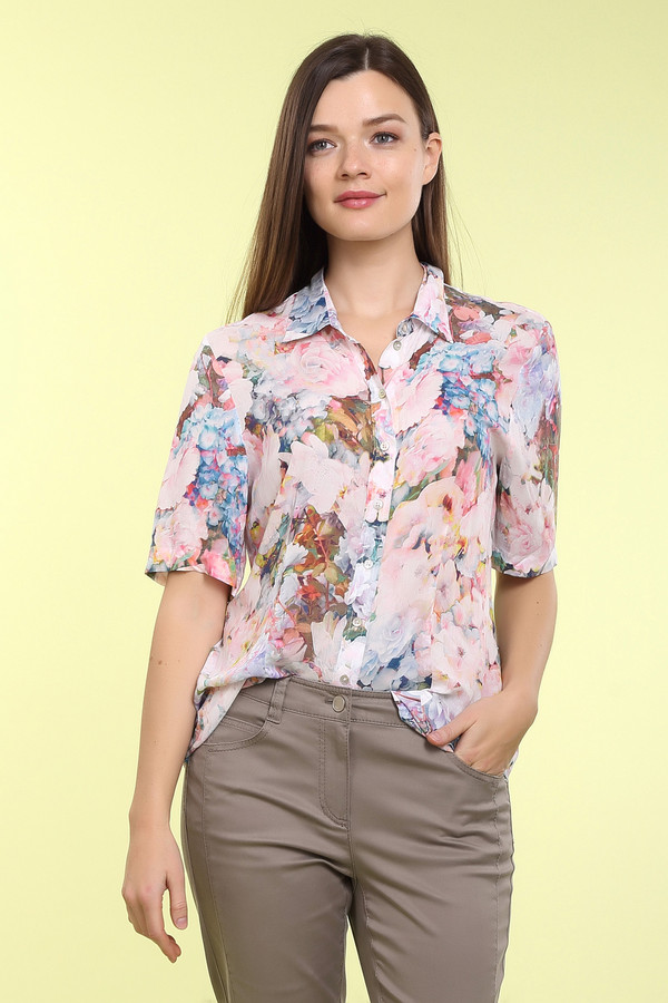 Блузa ErfoБлузы<br>Блузa Erfo разноцветная. Изделие, о котором мечтает, пожалуй, каждая женщина. Роскошный цветочный рисунок данной блузы заставит вас буквально влюбиться в нее! Состав: 100%-ная вискоза. Летом в этом изделии вам не будет равных. Предельно простой крой не отвлекает от богатого и такого нежного рисунка ткани.<br><br>Размер RU: 50<br>Пол: Женский<br>Возраст: Взрослый<br>Материал: вискоза 100%<br>Цвет: Разноцветный