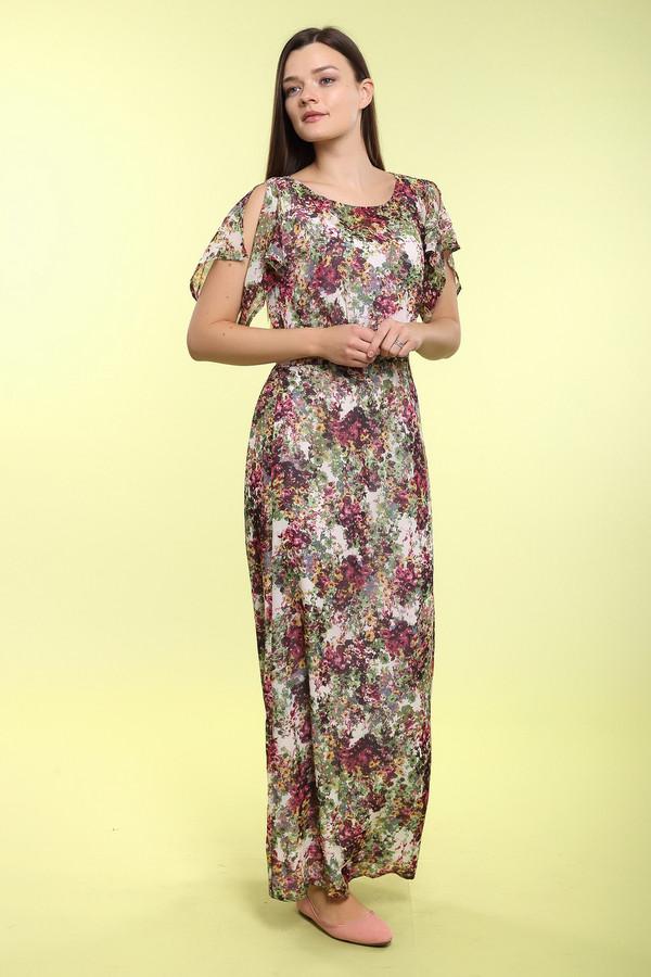 Длинное платье ArgentДлинные платья<br>Длинное платье Argent разноцветное прямого силуэта. Разные цвета на ткани этой модели – ее «изюминка». На удивление гармоничный пестрый узор – именно то, что нужно для лета. Не отстает по своей прелести и крой данной вещи: завышенная талия с поясом сзади и рукава-разлетайки – хороший выбор для вещи, предназначенной для жарких деньков. Состав: 100%-ный купро.<br><br>Размер RU: 50<br>Пол: Женский<br>Возраст: Взрослый<br>Материал: купро 100%<br>Цвет: Разноцветный