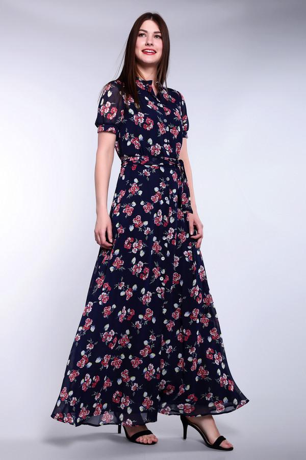 Длинное платье ArgentДлинные платья<br>Длинное платье Argent разноцветное. Темно-синий цвет, который дополняют белый, красный и зелёный, - это практично и стильно. Милые яркие букетики по всему полотну этого изделия позволят вам почувствовать себя самой женственной, желанной и соблазнительной женщиной, где бы вы ни находились. Состав: 100%-ный купро. Модель достаточно закрытая и загадочная, она снабжена воротничком-стойкой, застежкой на пуговицы и поясом.<br><br>Размер RU: 48<br>Пол: Женский<br>Возраст: Взрослый<br>Материал: купро 100%<br>Цвет: Разноцветный