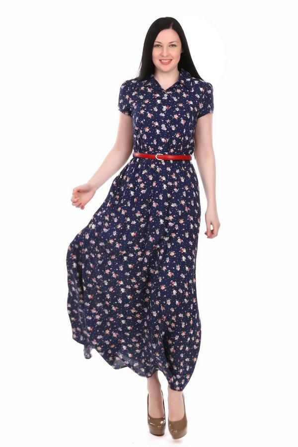 Платье ArgentПлатья<br>Длинное платье Argent разноцветное. Чудесная модель с основным синим тоном и рисунком в белых и розовых тонах. Мелкий цветочный узор и легкая ткань этого платья подчеркнут вашу женственность, хрупкость и изящество. Не влюбиться в данную модель просто нереально! Состав: 100%-ная вискоза. Волшебство совсем рядом, в этом изделии вы убедитесь в этом воочию.<br><br>Размер RU: 44<br>Пол: Женский<br>Возраст: Взрослый<br>Материал: вискоза 100%<br>Цвет: Разноцветный
