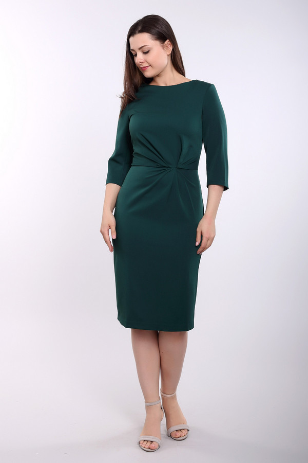 Платье ArgentПлатья<br><br><br>Размер RU: 48<br>Пол: Женский<br>Возраст: Взрослый<br>Материал: полиэстер 30%, вискоза 65%, лайкра 5%<br>Цвет: Зелёный