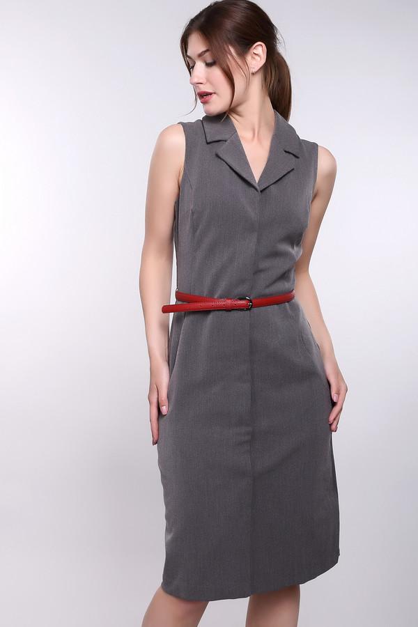 Короткое платье ArgentКороткие платья<br><br><br>Размер RU: 48<br>Пол: Женский<br>Возраст: Взрослый<br>Материал: полиэстер 30%, вискоза 65%, лайкра 5%, Состав_подкладка вискоза 100%<br>Цвет: Серый
