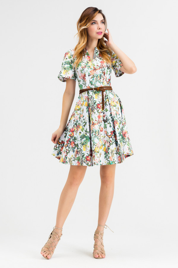 Платье XARIZMASПлатья<br><br><br>Размер RU: 42<br>Пол: Женский<br>Возраст: Взрослый<br>Материал: эластан 5%, хлопок 95%<br>Цвет: Разноцветный