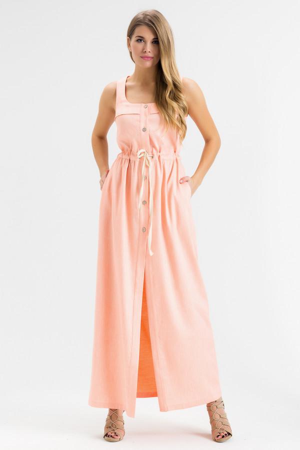 Платье XARIZMASПлатья<br><br><br>Размер RU: 44<br>Пол: Женский<br>Возраст: Взрослый<br>Материал: эластан 2%, полиэстер 22%, лен 55%, полиамид 1%, металл 9%, вискоза 11%<br>Цвет: Оранжевый