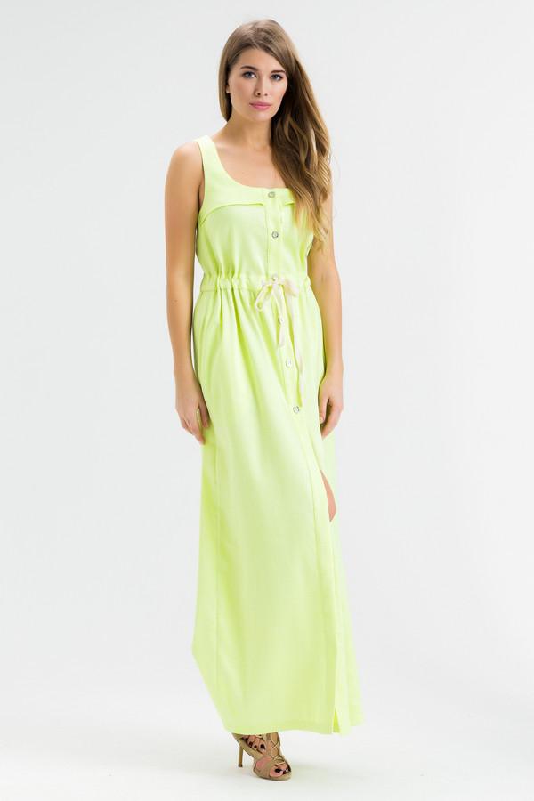 Платье XARIZMASПлатья<br><br><br>Размер RU: 46<br>Пол: Женский<br>Возраст: Взрослый<br>Материал: эластан 2%, полиэстер 22%, лен 55%, полиамид 1%, металл 9%, вискоза 11%<br>Цвет: Жёлтый