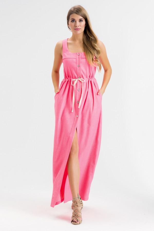 Платье XARIZMASПлатья<br><br><br>Размер RU: 44<br>Пол: Женский<br>Возраст: Взрослый<br>Материал: эластан 5%, полиэстер 22%, лен 60%, полиамид 1%, вискоза 12%<br>Цвет: Розовый
