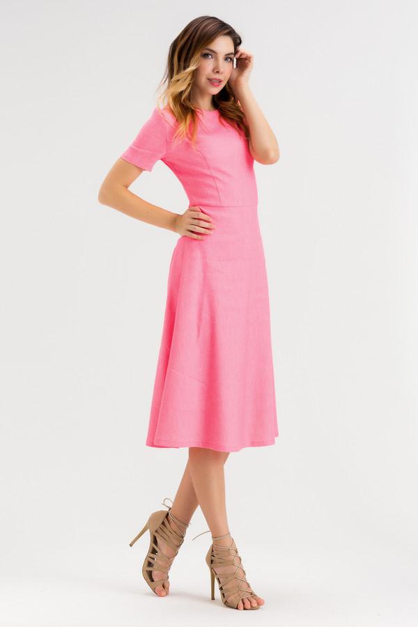 Платье XARIZMASПлатья<br><br><br>Размер RU: 46<br>Пол: Женский<br>Возраст: Взрослый<br>Материал: эластан 5%, полиэстер 22%, лен 60%, полиамид 1%, вискоза 12%<br>Цвет: Розовый