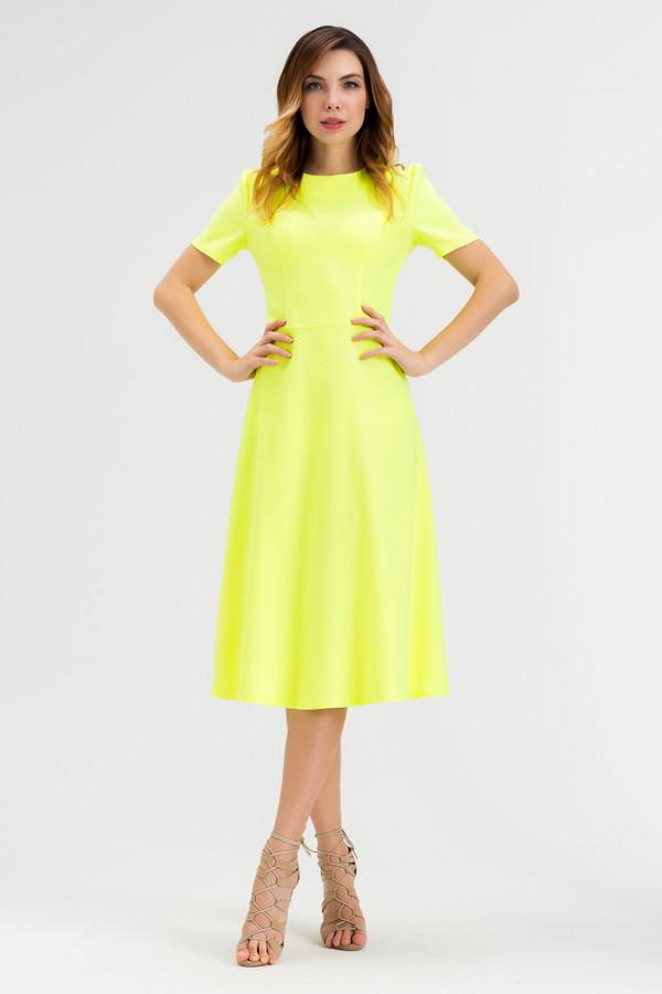 Платье XARIZMASПлатья<br><br><br>Размер RU: 44<br>Пол: Женский<br>Возраст: Взрослый<br>Материал: эластан 5%, полиэстер 22%, лен 60%, полиамид 1%, вискоза 12%<br>Цвет: Жёлтый