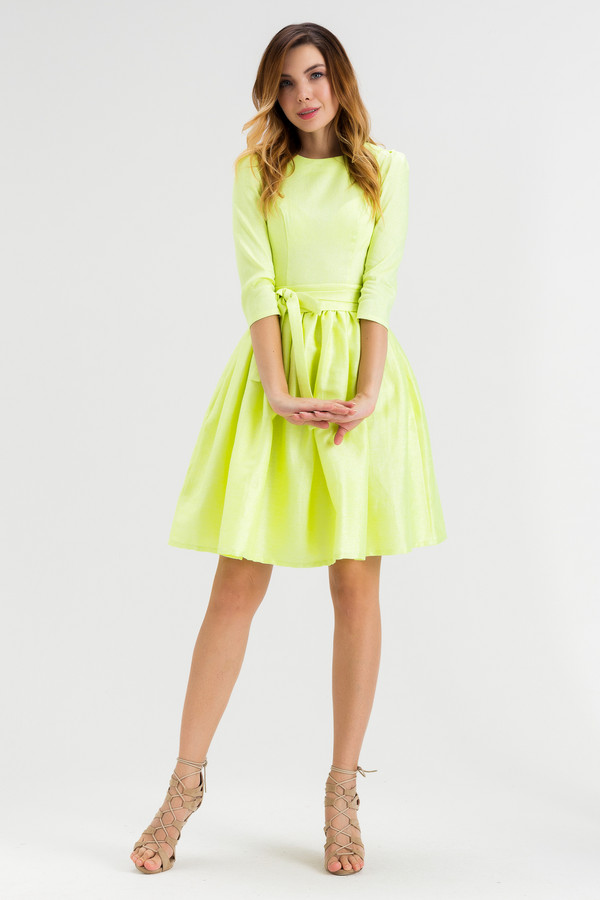 Платье XARIZMASПлатья<br><br><br>Размер RU: 44<br>Пол: Женский<br>Возраст: Взрослый<br>Материал: эластан 2%, полиэстер 22%, лен 55%, полиамид 1%, металл 9%, вискоза 11%<br>Цвет: Жёлтый