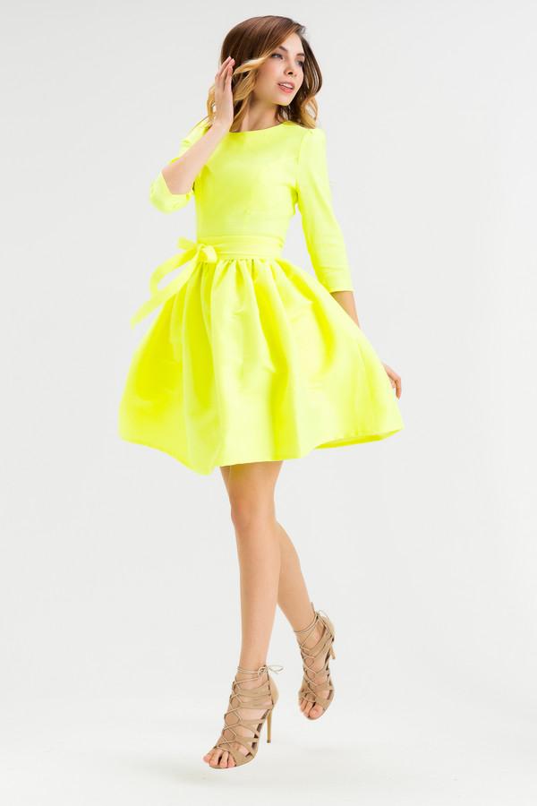 Платье XARIZMASПлатья<br><br><br>Размер RU: 48<br>Пол: Женский<br>Возраст: Взрослый<br>Материал: эластан 5%, полиэстер 22%, лен 60%, полиамид 1%, вискоза 12%<br>Цвет: Жёлтый