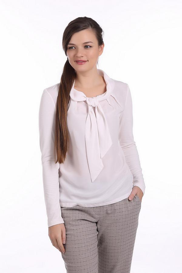 Блузa PezzoБлузы<br>Белая блуза Pezzo прямого кроя. Блуза выполнена из полупрозрачной ткани. Изделие дополнено воротником-бант и длинными рукавами. Блуза выполнена из полупрозрачной ткани.<br><br>Размер RU: 44<br>Пол: Женский<br>Возраст: Взрослый<br>Материал: вискоза 25%, полиэстер 70%, спандекс 5%<br>Цвет: Белый