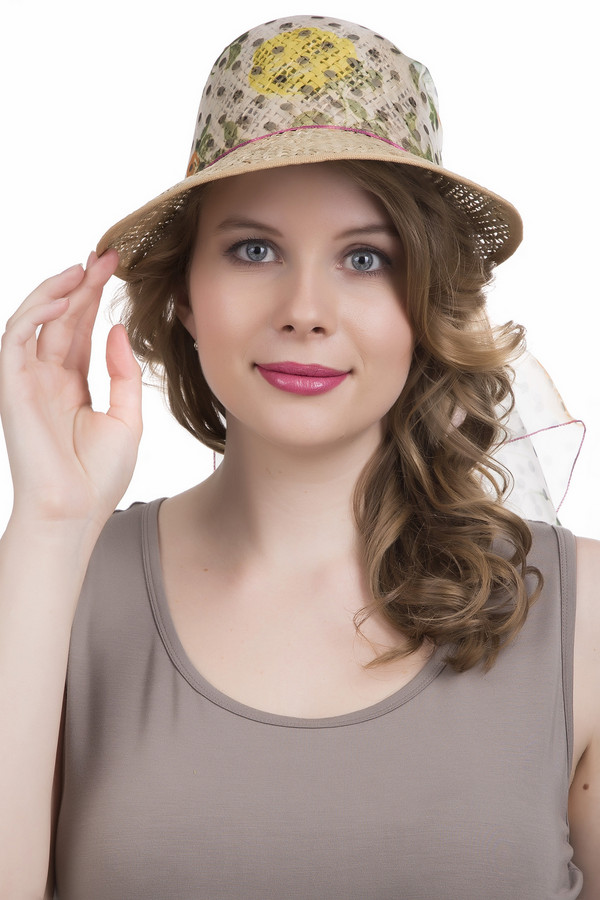 Шляпа WegenerШляпы<br><br><br>Размер RU: 59<br>Пол: Женский<br>Возраст: Взрослый<br>Материал: солома 100%<br>Цвет: Разноцветный