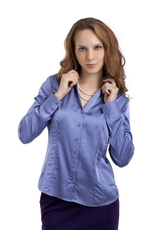 Рубашка с длинным рукавом PezzoДлинный рукав<br>Нежная однотонная рубашка Pezzo приталенного кроя с длинным рукавом представлена в спокойной цветовой гамме. Рубашка дополнена отложным воротником и манжетами с пуговицами. Центральная часть изделия застегивается на пуговицы. Идеально будет смотреться с  классическими брюками Gardeur  и добавит женственности деловому стилю.<br><br>Размер RU: 46<br>Пол: Женский<br>Возраст: Взрослый<br>Материал: полиэстер 97%, спандекс 3%<br>Цвет: Сиреневый