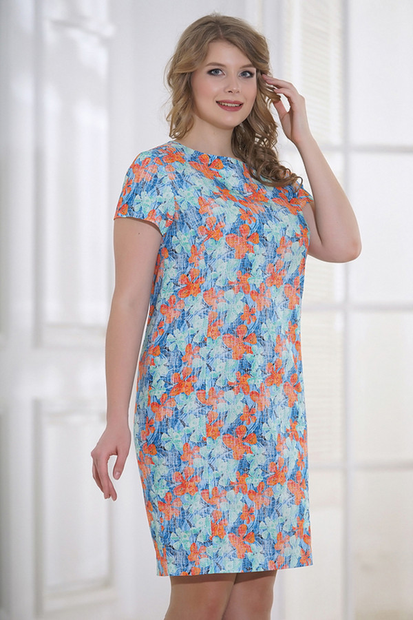 Платье HoroshaПлатья<br><br><br>Размер RU: 54<br>Пол: Женский<br>Возраст: Взрослый<br>Материал: хлопок 100%<br>Цвет: Разноцветный