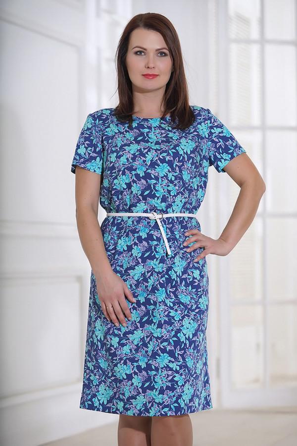 Платье HoroshaПлатья<br><br><br>Размер RU: 48<br>Пол: Женский<br>Возраст: Взрослый<br>Материал: вискоза 93%, шелк 7%<br>Цвет: Голубой