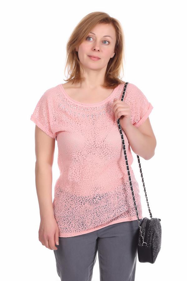 Блузa Betty BarclayБлузы<br>Блузa Betty Barclay женская розовая. Шикарная розовая блуза для обаятельных женщин. Модель с коротким приспущенным рукавом и эффектным ажурным узором смотрится бесподобно. Вырез горловины украшен стразами. В такой блузе вы всегда будете в центре внимания. Она отлично сочетается с узкими брюками и юбками различной длины.. Состав: хлопок, полиамид.