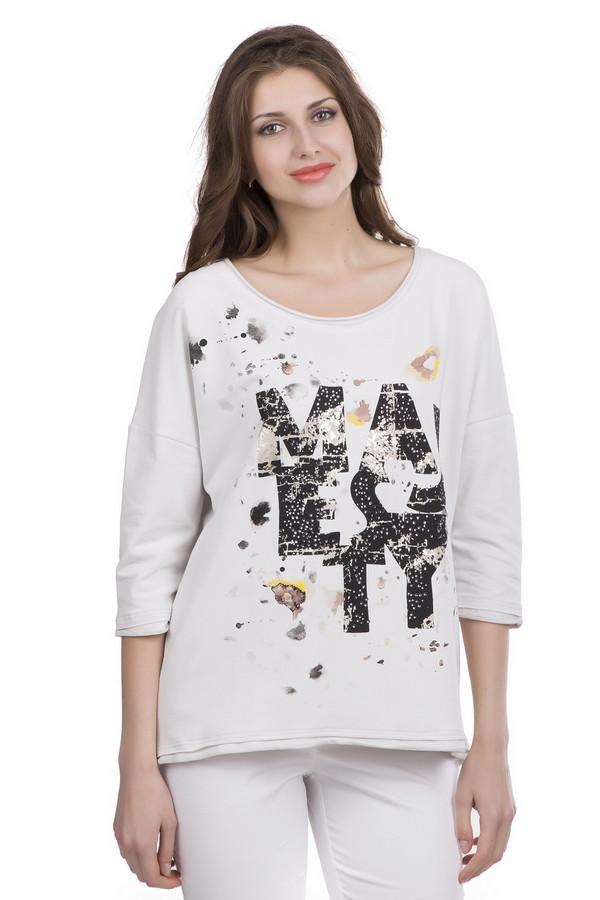 Пуловер Betty BarclayПуловеры<br>Пуловер Betty Barclay женский. Актуальный принт на груди этой модели – необычное дизайнерское решение, которое украшает данную модель, делая ее яркой и стильной. Белый фон и чёрный, серебристый цвета декора контрастны, а потому в таком изделии оставаться незамеченной попросту нереально. Рукав три четверти открывает изящные женские руки, что выглядит просто потрясающе. Состав: хлопок и эластан.<br><br>Размер RU: 44<br>Пол: Женский<br>Возраст: Взрослый<br>Материал: хлопок 92%, эластан 8%<br>Цвет: Разноцветный