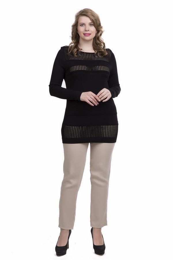 Пуловер Betty BarclayПуловеры<br>Пуловер Betty Barclay женский черный. Чудесная модель с ажурными горизонтальными вставками никого не оставит равнодушным. Слегка просвечивающий узор придает недосказанности и загадочности всему вашему образу, он дарит интригу и намекает на разгадку. Удлиненный фасон очень удобен в носке, к тому же пуловер отлично сидит и стройнит свою обладательницу. Состав: вискоза и полиамид.<br><br>Размер RU: 44<br>Пол: Женский<br>Возраст: Взрослый<br>Материал: полиамид 20%, вискоза 80%<br>Цвет: Чёрный
