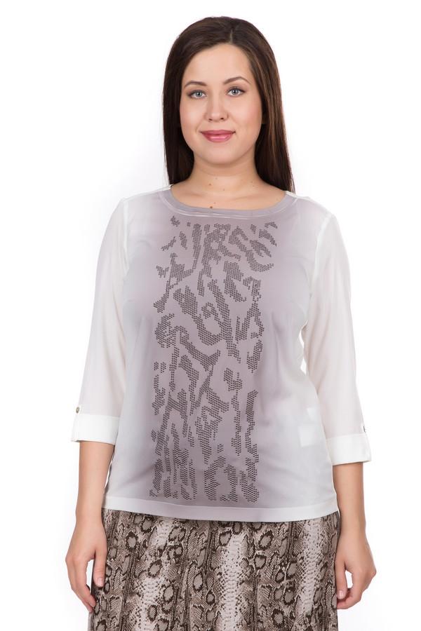 Блузa GelcoБлузы<br>Блуза белого цвета фирмы Gelco. Ткань состоит из 100% полиэстера. Модель выполнена прямым покроем. Блуза дополнена прямоугольным воротом, втачным рукавом 3/4 длинны на тесьму с пуговицей. Передняя часть изделия декорирована орнаментом, выполненное стразами. Гармонировать будет с различными деталями вашего гардероба.