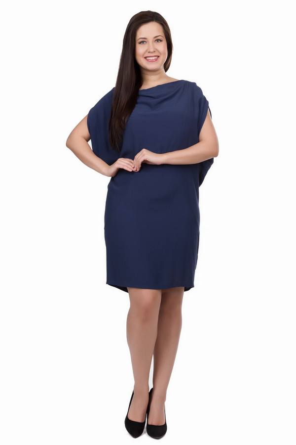 Платье SamoonПлатья<br><br><br>Размер RU: 52<br>Пол: Женский<br>Возраст: Взрослый<br>Материал: вискоза 100%<br>Цвет: Синий