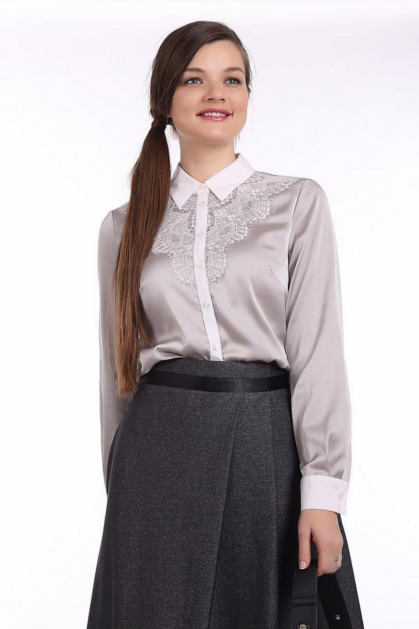 Блузa PezzoБлузы<br>Элегантная блуза Pezzo приталенного кроя представлена в двух цветах, нежно-сером и сиреневом. Изделие дополнено отложным воротником и манжетами на пуговице белого цвета. Центральная часть блузы застегивается на пуговицы. Зона декольте оформлено кружевами.<br><br>Размер RU: 50<br>Пол: Женский<br>Возраст: Взрослый<br>Материал: полиэстер 97%, спандекс 3%<br>Цвет: Белый