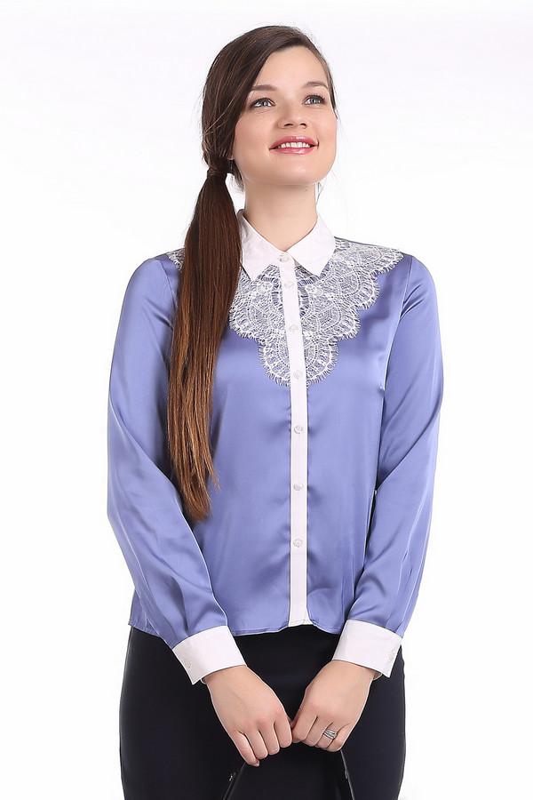 Блузa PezzoБлузы<br>Элегантная блуза Pezzo приталенного кроя представлена в двух цветах, нежно-сером и сиреневом. Изделие дополнено отложным воротником и манжетами на пуговице белого цвета. Центральная часть блузы застегивается на пуговицы. Зона декольте оформлено кружевами.<br><br>Размер RU: 46<br>Пол: Женский<br>Возраст: Взрослый<br>Материал: полиэстер 97%, спандекс 3%<br>Цвет: Белый