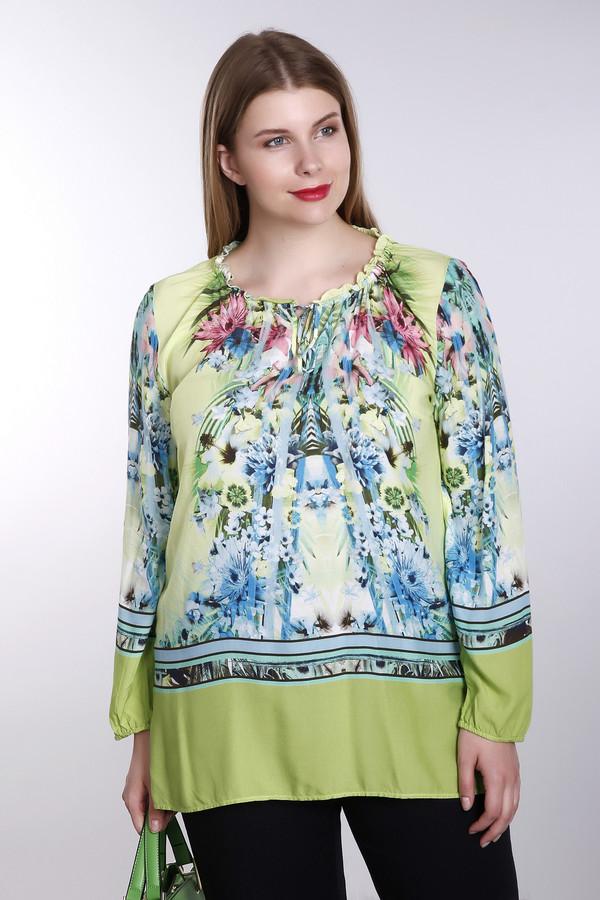 Блузa Betty BarclayБлузы<br>Блуза Betty Barclay разноцветная. Чёрный, розовый, зелёный, голубой, синий цвета слились в единый букет на этой милой удлиненной блузе. Необычно оформленный вырез горловины снабжен завязкой, а рукава и низ изделия украшены однотонной полосой ткани, что контрастирует с основным фоном данной вещи. Состав: 100%-ная вискоза.<br><br>Размер RU: 42<br>Пол: Женский<br>Возраст: Взрослый<br>Материал: вискоза 100%<br>Цвет: Разноцветный