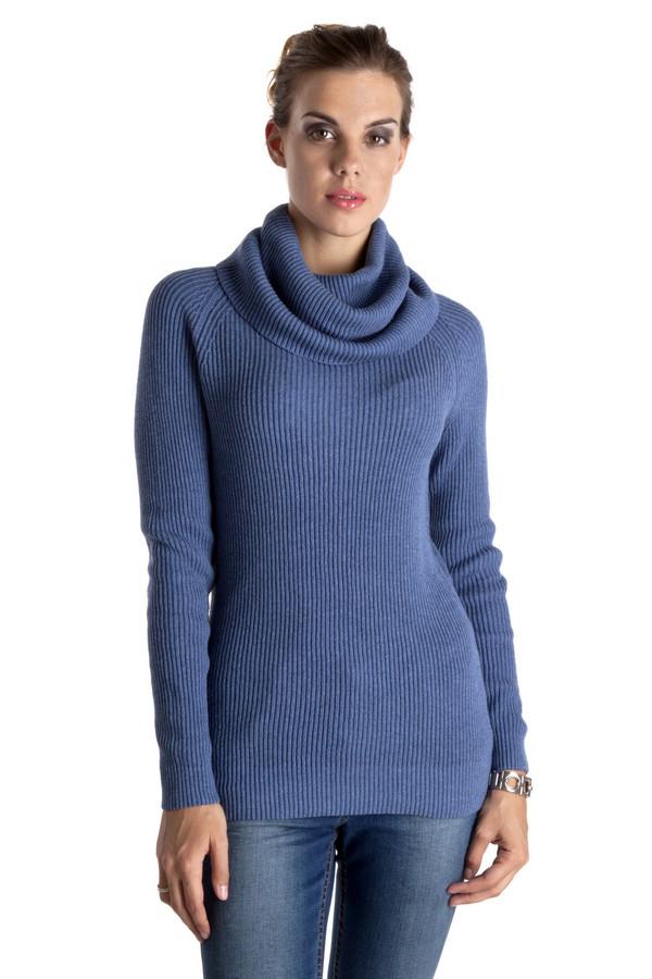Пуловер PezzoПуловеры<br>Темно-синий теплый пуловер Pezzo приталенного кроя. Изделие дополнено: объемным воротником-хомут и длинными рукавами. Пуловер выполнен из натурального высококачественного материала.<br><br>Размер RU: 48<br>Пол: Женский<br>Возраст: Взрослый<br>Материал: хлопок 100%<br>Цвет: Синий
