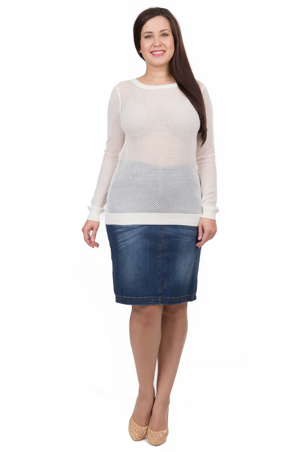 Пуловер SetПуловеры<br><br><br>Размер RU: 46<br>Пол: Женский<br>Возраст: Взрослый<br>Материал: хлопок 100%<br>Цвет: Белый