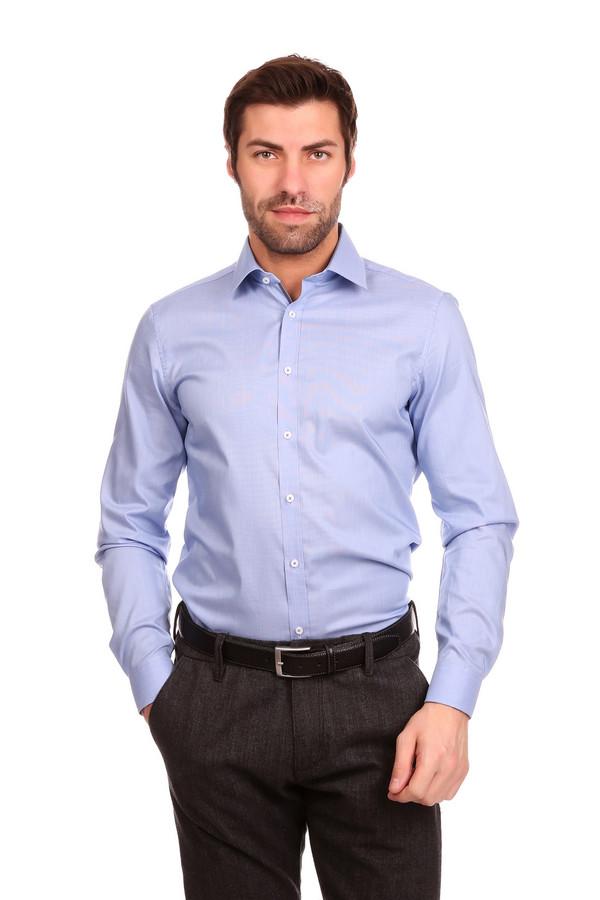 Рубашка с длинным рукавом VentiДлинный рукав<br><br><br>Размер RU: 42<br>Пол: Мужской<br>Возраст: Взрослый<br>Материал: хлопок 100%<br>Цвет: Голубой