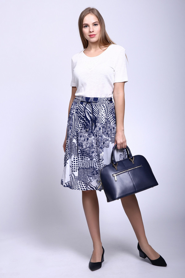 женская юбка steilmann, синяя
