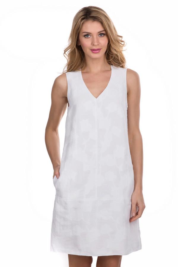 Купить Платье Luisa Cerano, Румыния, Белый, хлопок 54%, лен 46%