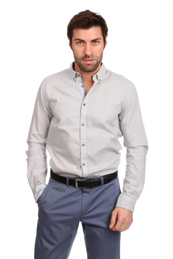 Рубашка с длинным рукавом Tom TailorДлинный рукав<br><br><br>Размер RU: 46-48<br>Пол: Мужской<br>Возраст: Взрослый<br>Материал: хлопок 100%<br>Цвет: Синий