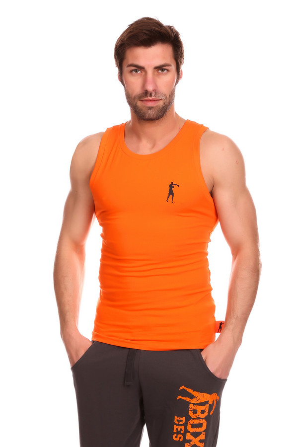 Футболкa Boxeur Des RuesФутболки<br><br><br>Размер RU: 48<br>Пол: Мужской<br>Возраст: Взрослый<br>Материал: эластан 5%, хлопок 95%<br>Цвет: Оранжевый