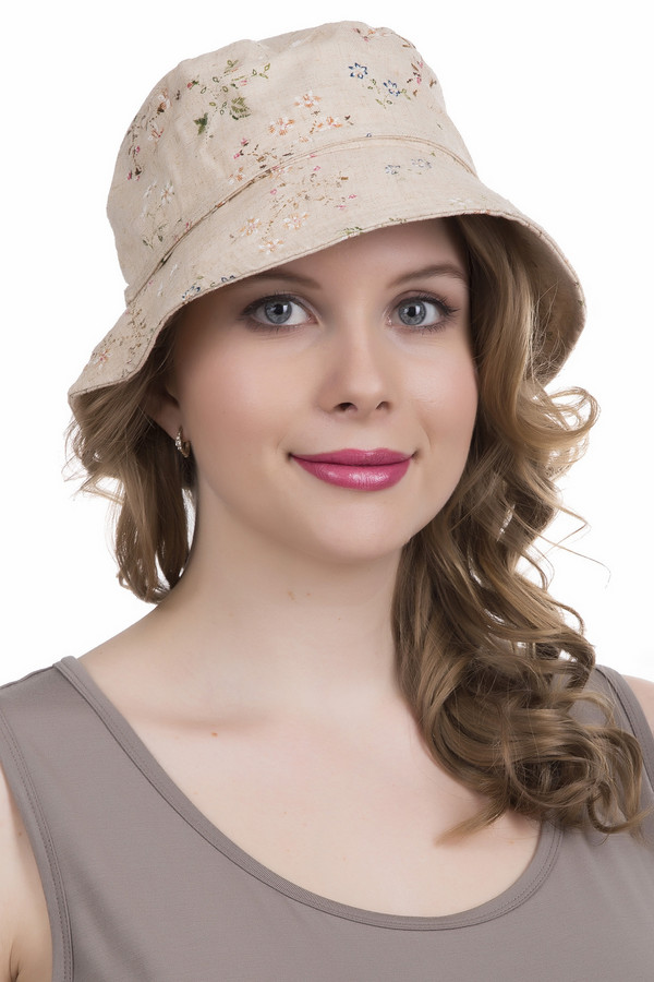 Шляпа WegenerШляпы<br><br><br>Размер RU: один размер<br>Пол: Женский<br>Возраст: Взрослый<br>Материал: вискоза 33%, полиамид 34%, лен 33%<br>Цвет: Бежевый