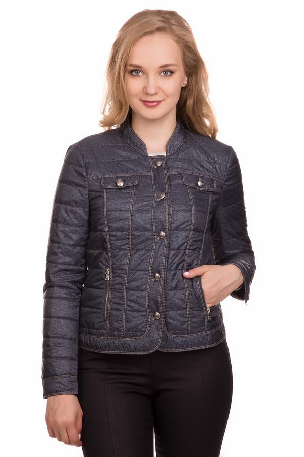 Куртка Gerry WeberКуртки<br><br><br>Размер RU: 44<br>Пол: Женский<br>Возраст: Взрослый<br>Материал: полиэстер 100%<br>Цвет: Синий