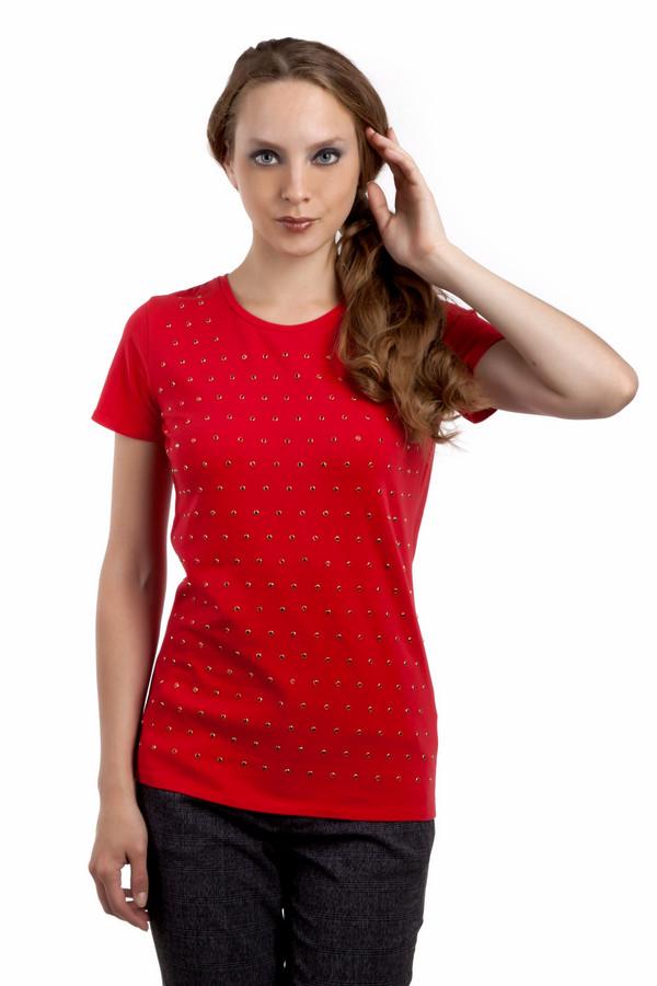 Футболка Just ValeriФутболки<br>Модная женская красная футболка Just Valeri прямого кроя. Изделие дополнено: круглым вырезом и короткими рукавами. Футболка декорирована стразами в цвет изделия.<br><br>Размер RU: 40<br>Пол: Женский<br>Возраст: Взрослый<br>Материал: хлопок 95%, спандекс 5%<br>Цвет: Красный