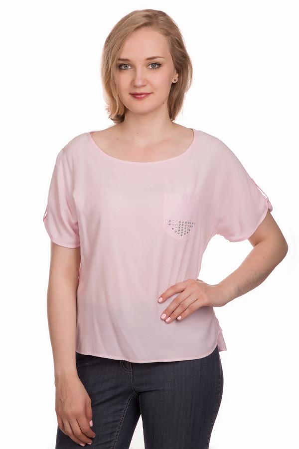 Блузa SteilmannБлузы<br><br><br>Размер RU: 42<br>Пол: Женский<br>Возраст: Взрослый<br>Материал: полиэстер 54%, вискоза 46%<br>Цвет: Розовый
