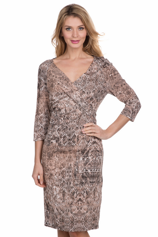 Платье SteilmannПлатья<br><br><br>Размер RU: 46<br>Пол: Женский<br>Возраст: Взрослый<br>Материал: вискоза 93%, эластан 7%<br>Цвет: Разноцветный